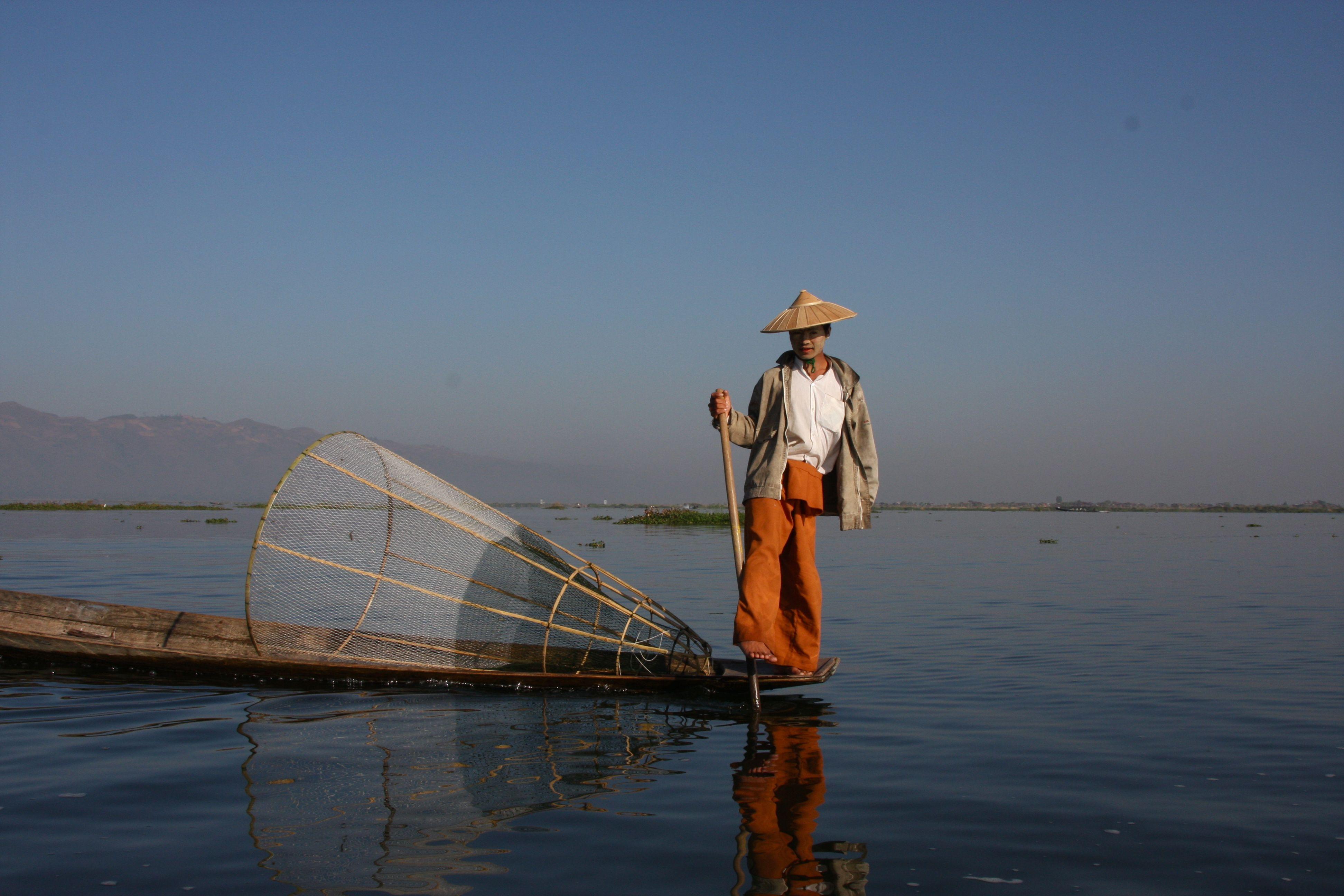 Fiskare på Inlesjön