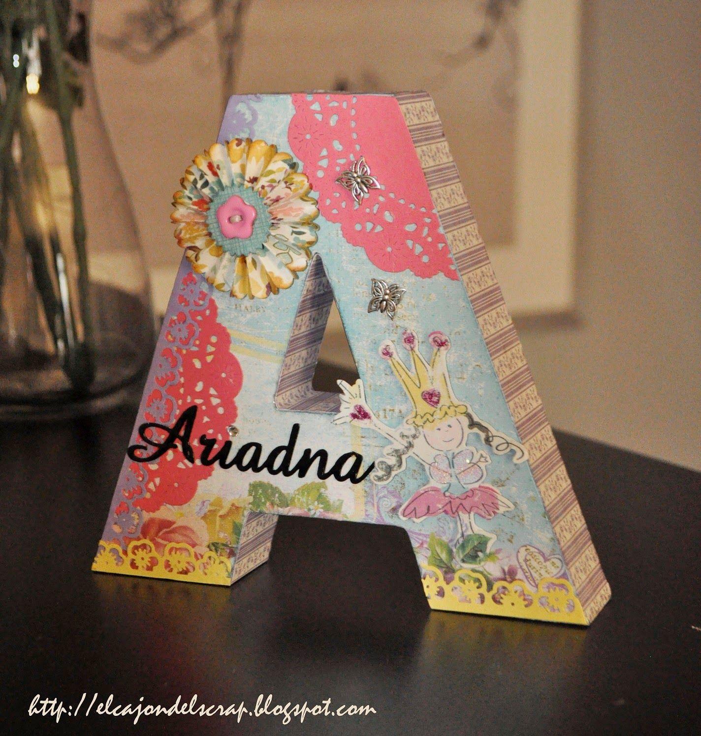 El caj n del scrap letras decoradas con scrapbooking letras pinterest letras decoradas - Letras decoradas scrap ...