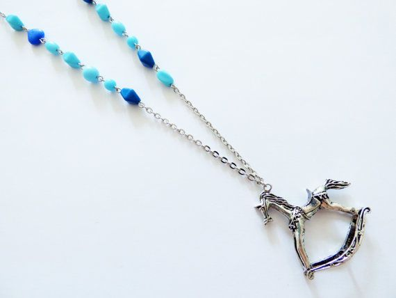 Check out this item in my Etsy shop https://www.etsy.com/es/listing/466526913/blue-horse-necklace-co048