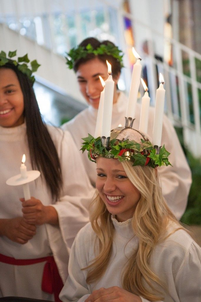 Christina Swenson Crowned St Lucia Candle Crown St Lucia Day Lucia
