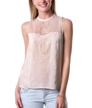 28b94b9e25ba8 Beads and embroidery top nude - Promod Lace Tops
