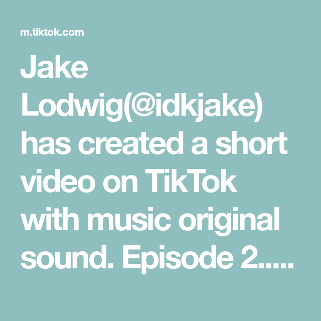 Jake Lodwig Idkjake Has Created A Short Video On Tiktok With Music Original Sound Episode 2 It Only Ge In 2020 The Originals Last Christmas Movie Editing Skills
