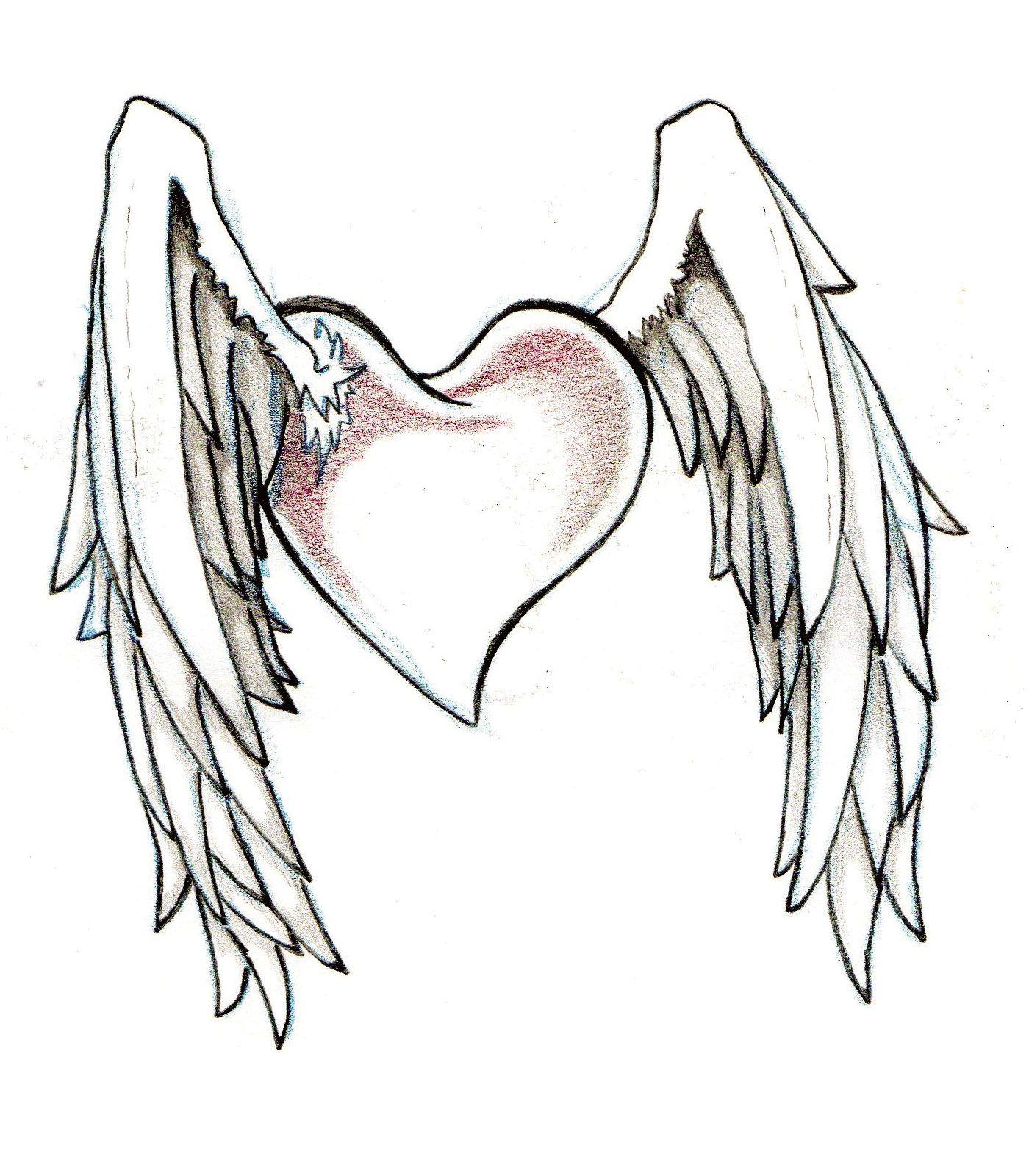 Heart tattoos designs - Hearts And Wings Tattoo Designs Cool Tattoos Bonbaden
