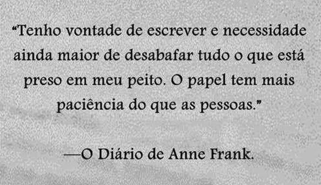 Mensagem Do Livro E Filme O Diário De Anne Frank Sinto Os Mesmos