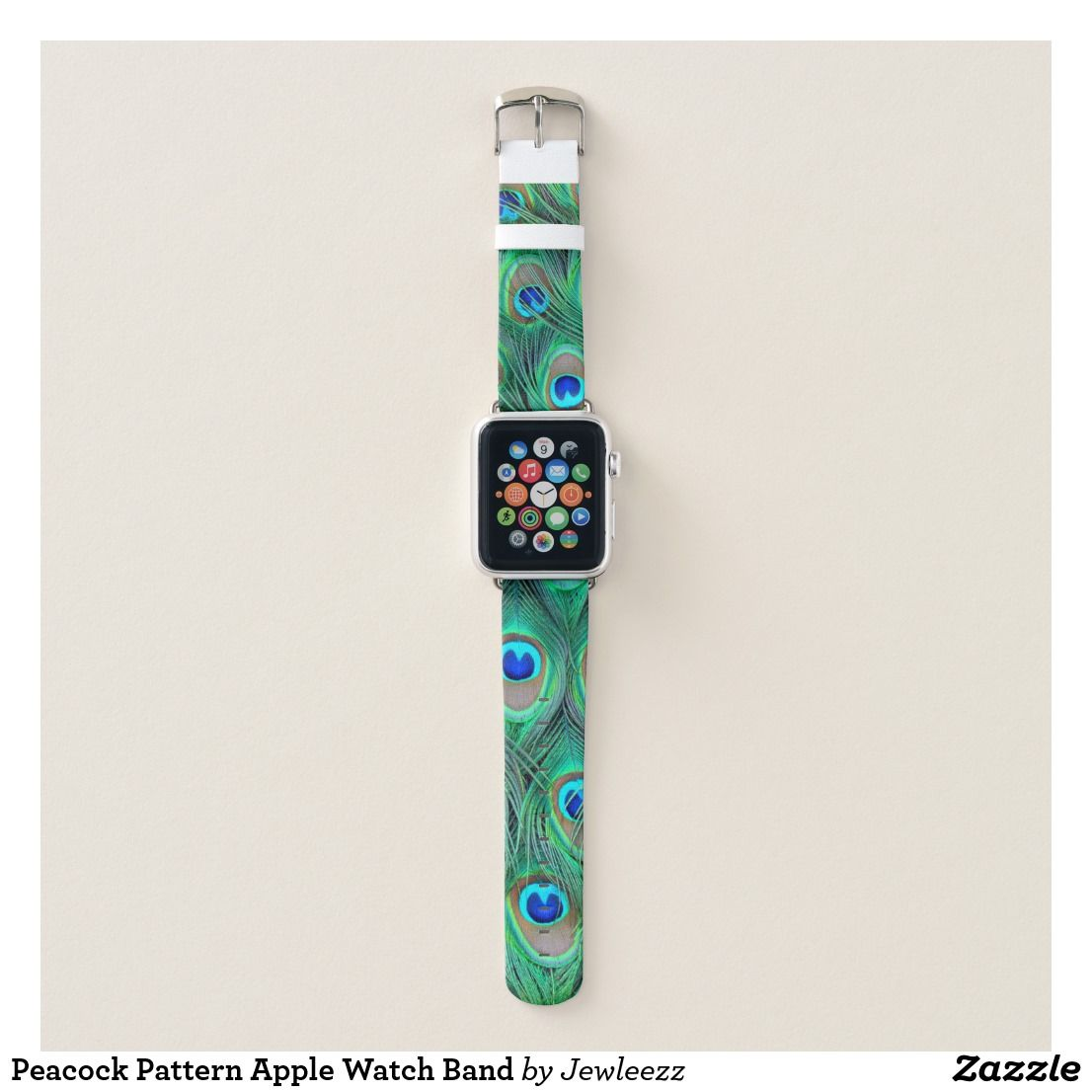 Peacock Pattern Apple Watch Band Watch