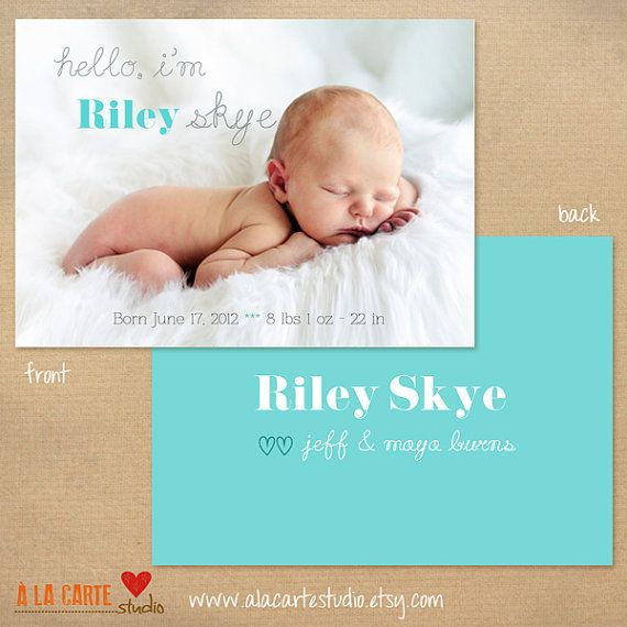 17 Best images about Birth announcement – Birth Announcment Cards