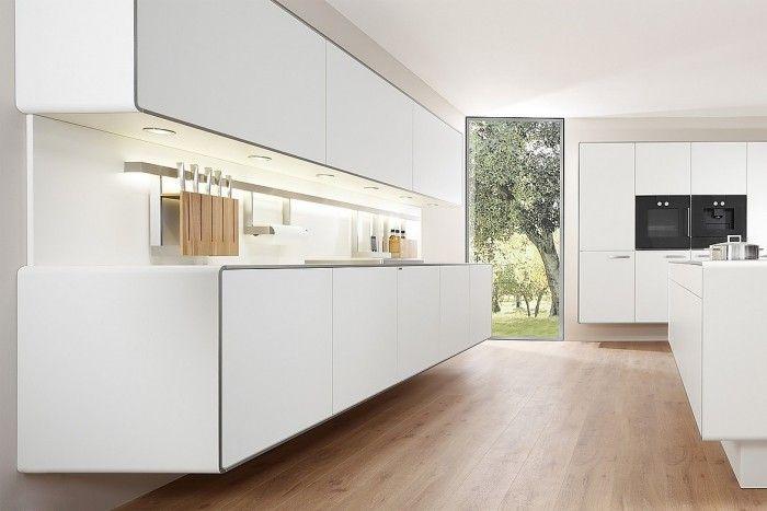 offene küche nur in weiß modern gestalten Modern Ideas - küchenzeile weiß hochglanz