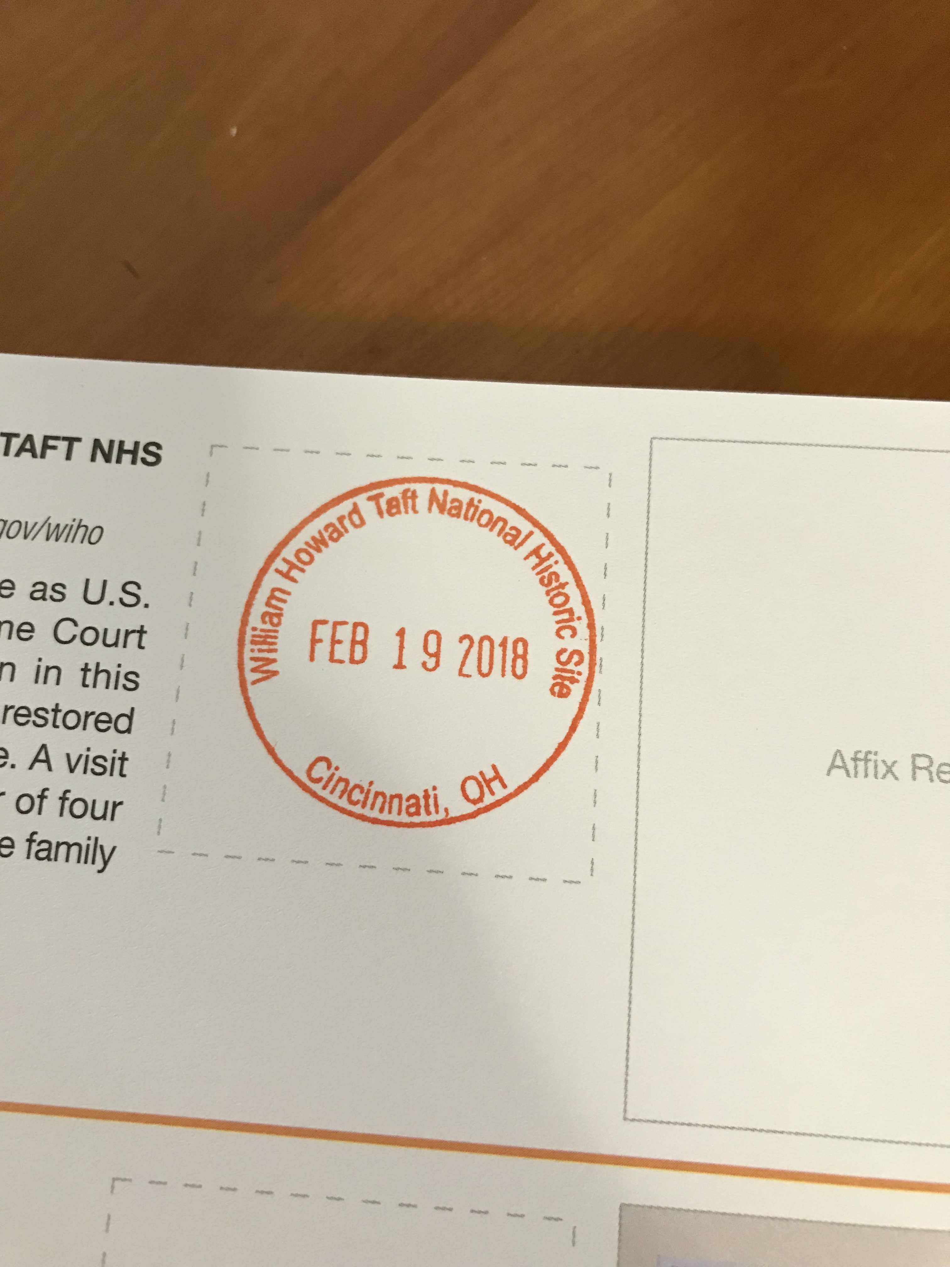 President William Howard Taft National Historic Site Cincinnati Ohio Historical Sites Taft National Park Passport