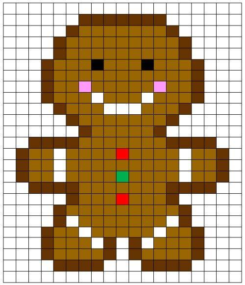 Coding Unplugged e Pixel Art la scheda del pan di zenzero di Natale (Christmas Gingerbread) - Maes
