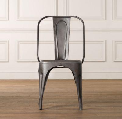 Vintage steel desk chair desks vanities restoration for Restoration hardware metal chair