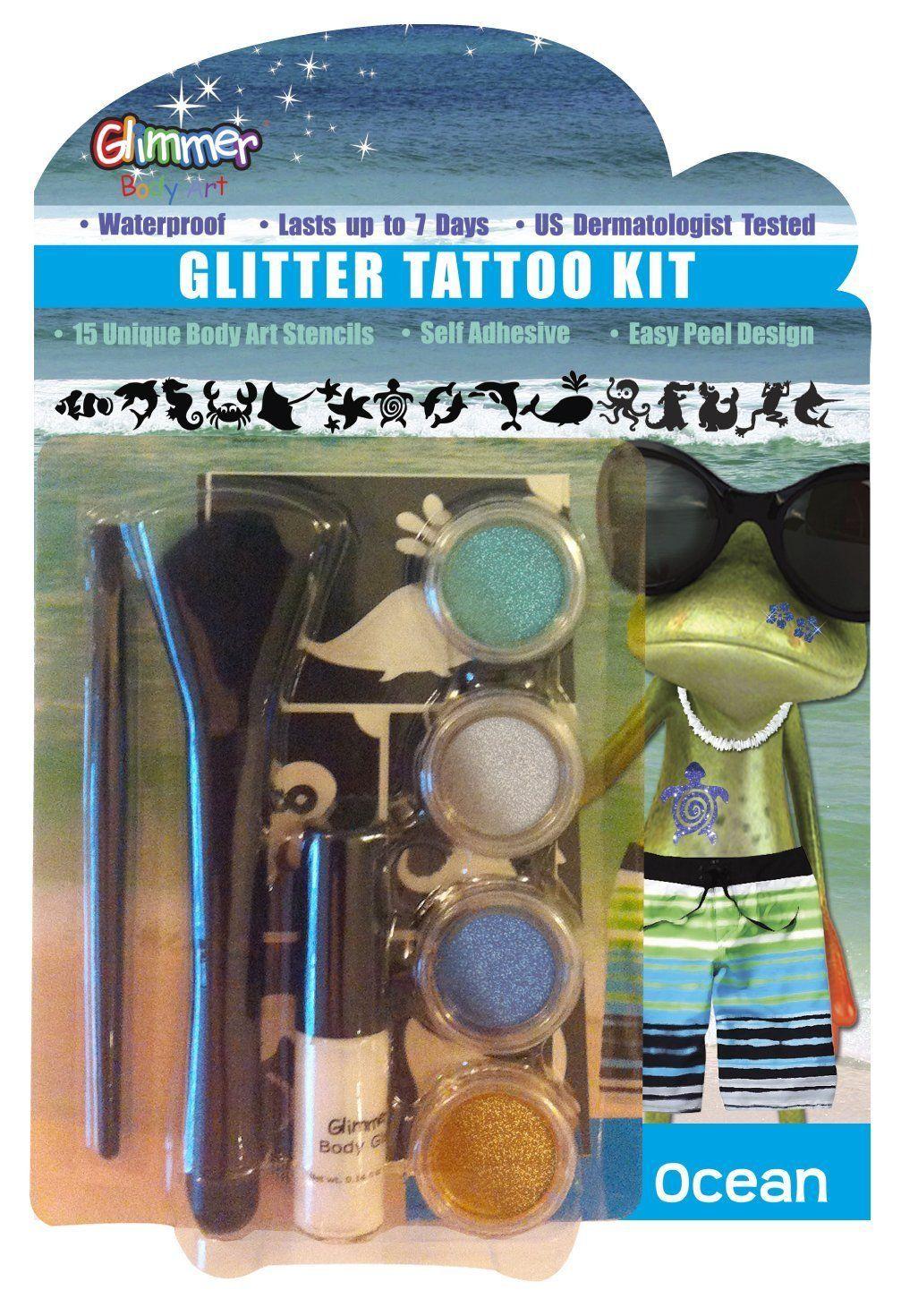 Glimmer body art ocean glitter tattoo kit