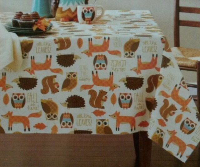 Perfect Vinyl Tablecloth Rectangle 52x70 Inch Diameter Critters Non Woven Backing