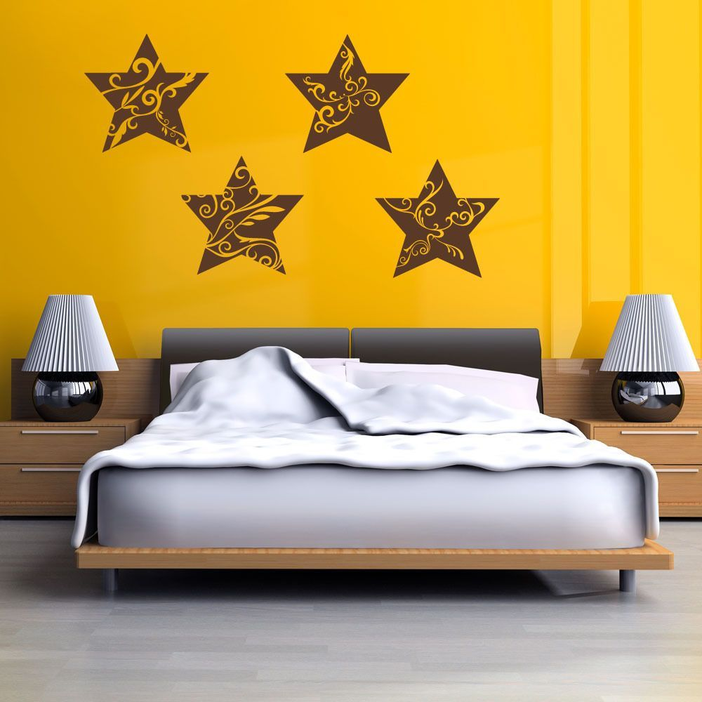Star Ornaments Christmas Wall Decal | Products | Pinterest | Online ...