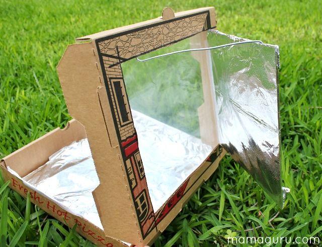 How To Make A Solar Oven Mamaguru Solar Oven Solar Energy Diy Renewable Energy For Kids