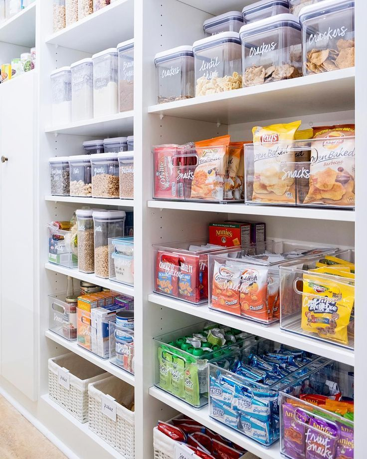 A: Every single pantry needs to have some form of a basket or bin to contain the general categories. Even if you like (or prefer) canisters and jars, you can