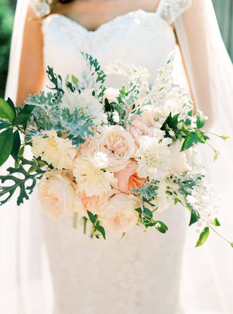 peach and grey bridal bouquetpassion for flowers