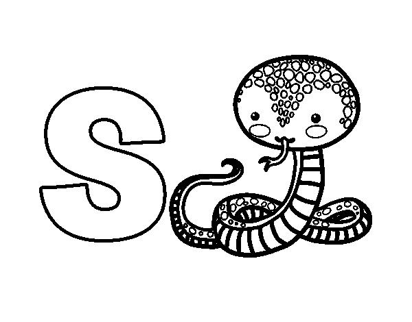 Dibujo del Abecedario - Letra S para colorear | letras | Pinterest ...