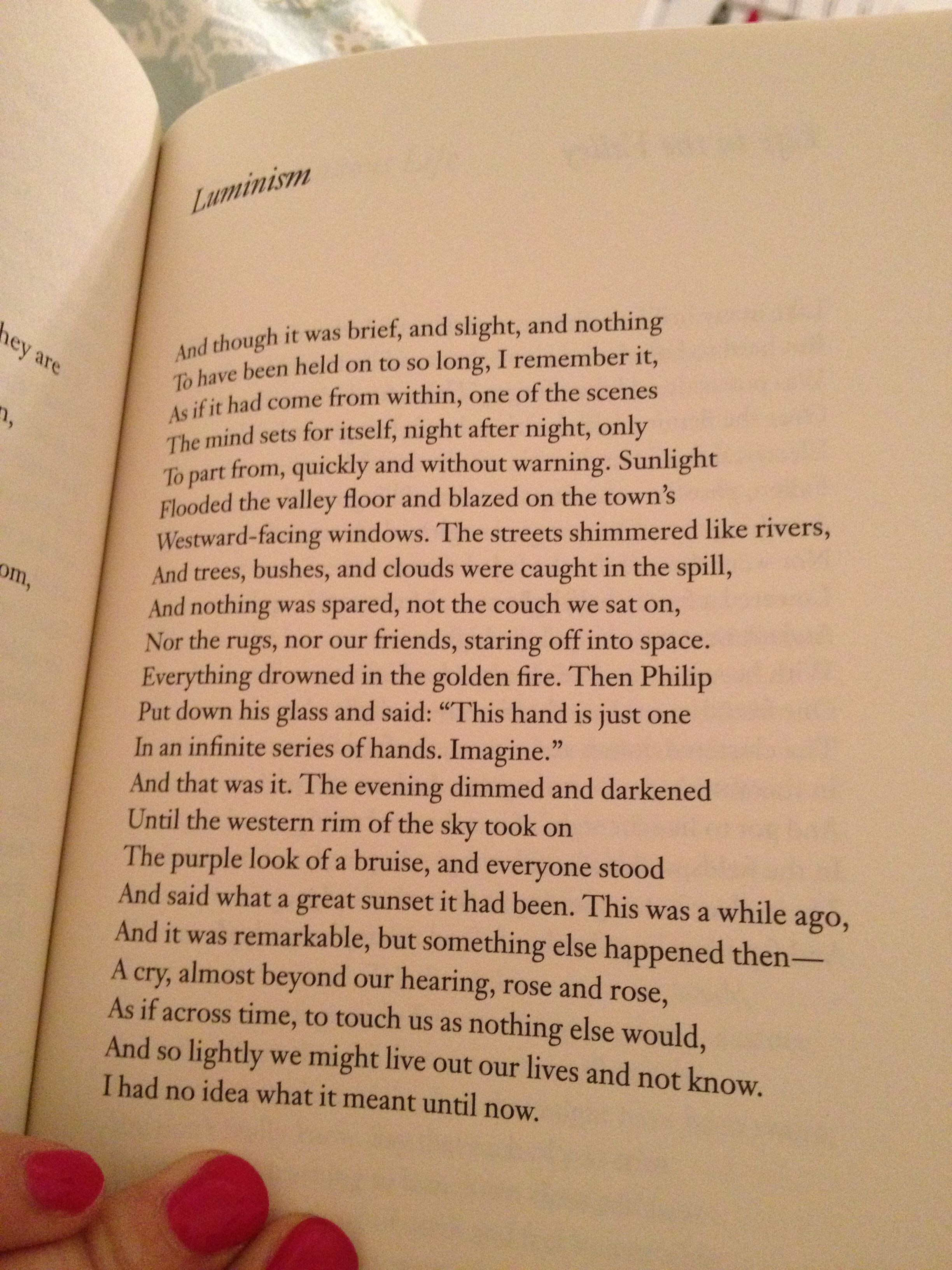 Luminism By Mark Strand Poetry
