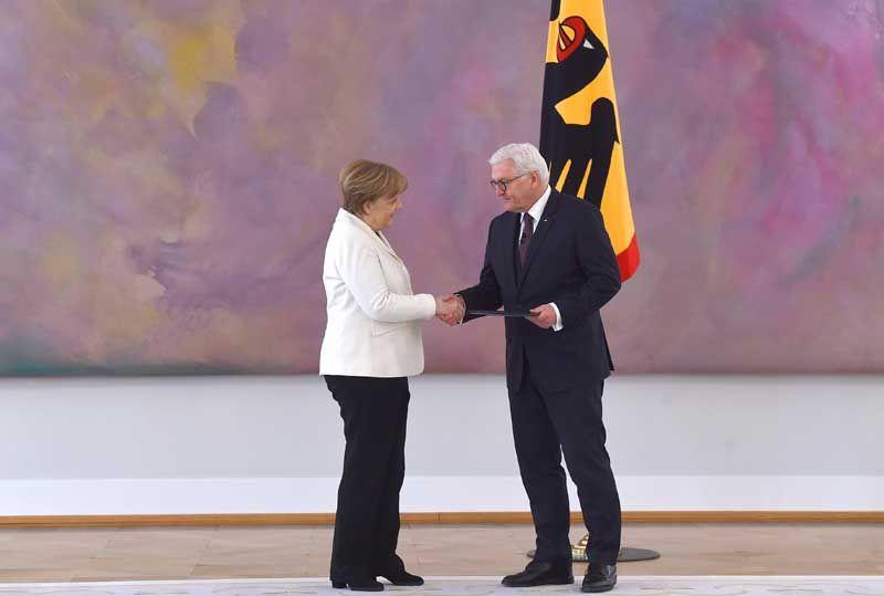 Nach ihrer Wahl durch den deutschen Bundestag hat