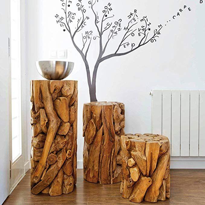 Möbel Bressmer Holzsäule Blumensäule Holz Massiv XILON