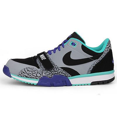 save off 6537c d2f0f Nike Air Trainer 1 Low St Mens 637995-003 Elephant Grey Concord Shoes Size 6
