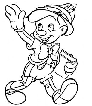 shrek coloring pages Pinocchio Goes To School coloring page