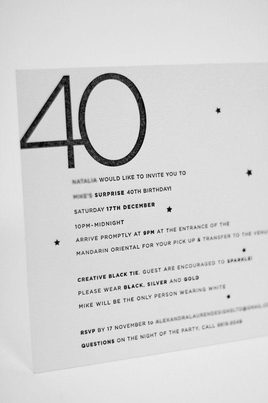 40th birthday party invitation letterpress on cranes letra 40th birthday party invitation letterpress on cranes letra studiomhk filmwisefo Images