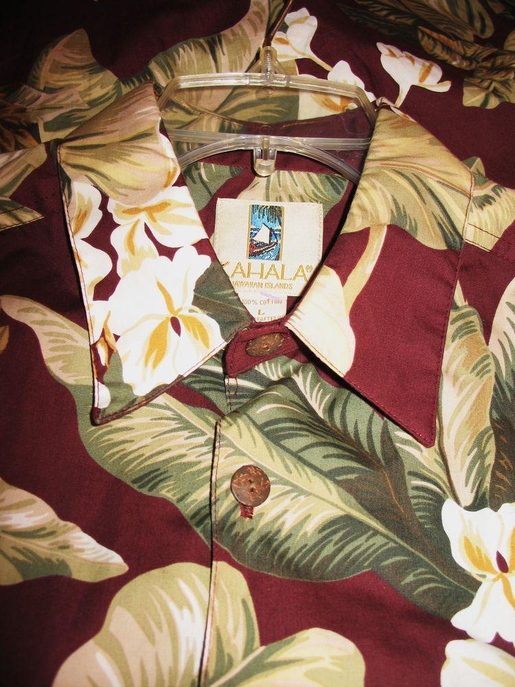 Kahala hawaiian shirts vintage tropical flower 100cotton