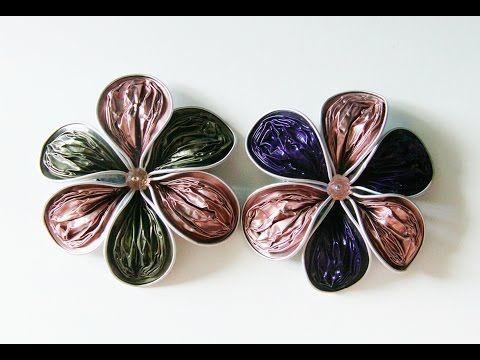 Diy Flor Reciclada De Petalos Rugosos Con Capsulas Nespresso Para