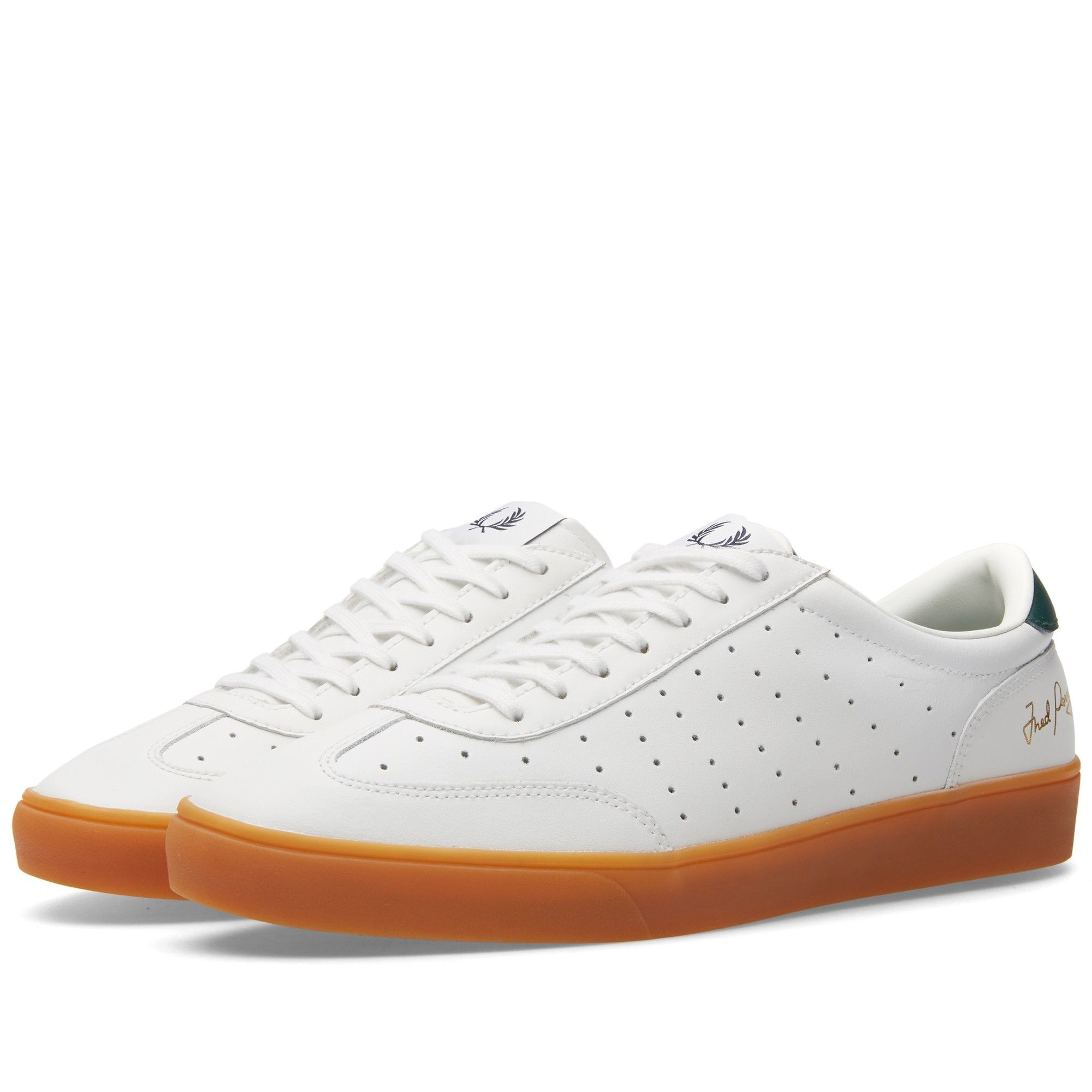 An adaptation of the classic Fred Perry tennis shoe, the Umpire is  constructed of perforated