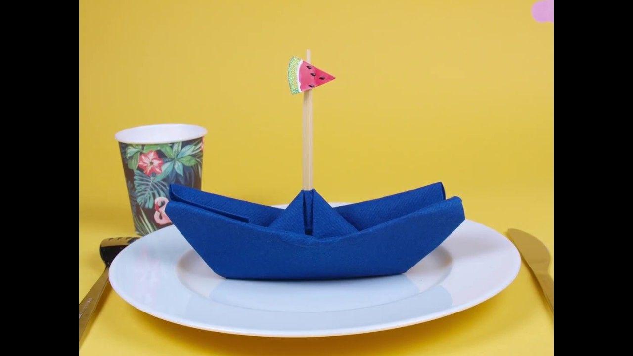 Pliage serviette - bateau