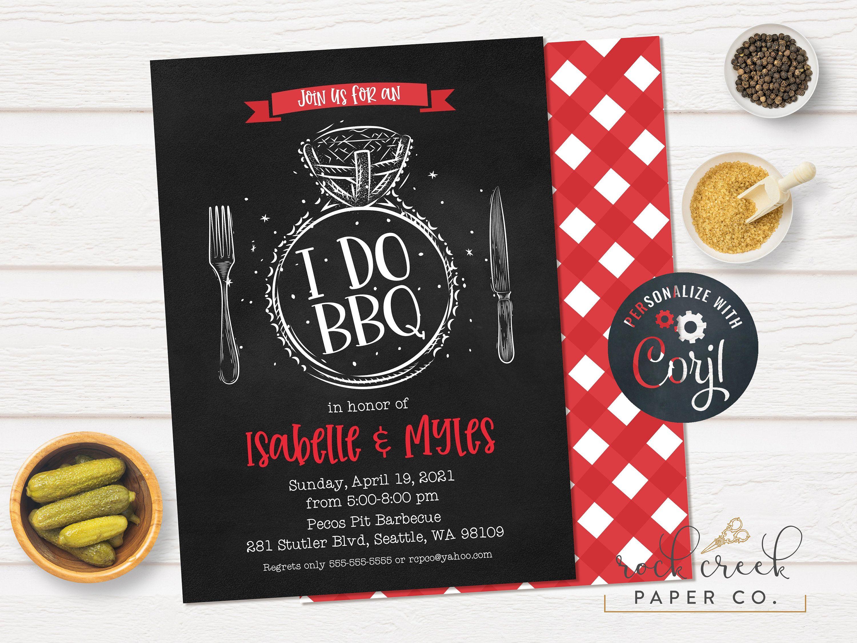 I Do Bbq Invitation Engagement Barbecue Bridal Shower Etsy In 2020 I Do Bbq Bbq Invitation Engagement Invitations