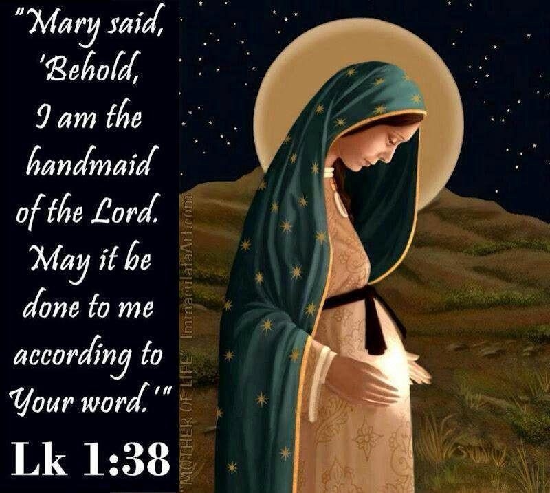 Image result for Luke 1:38