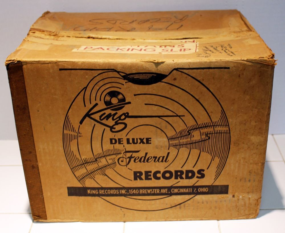 Rare King Records Vintage 10 Inch 78 Rpm Record Mailing Box For Decorative Use 78 Rpm Records 10 Things 78 Rpm