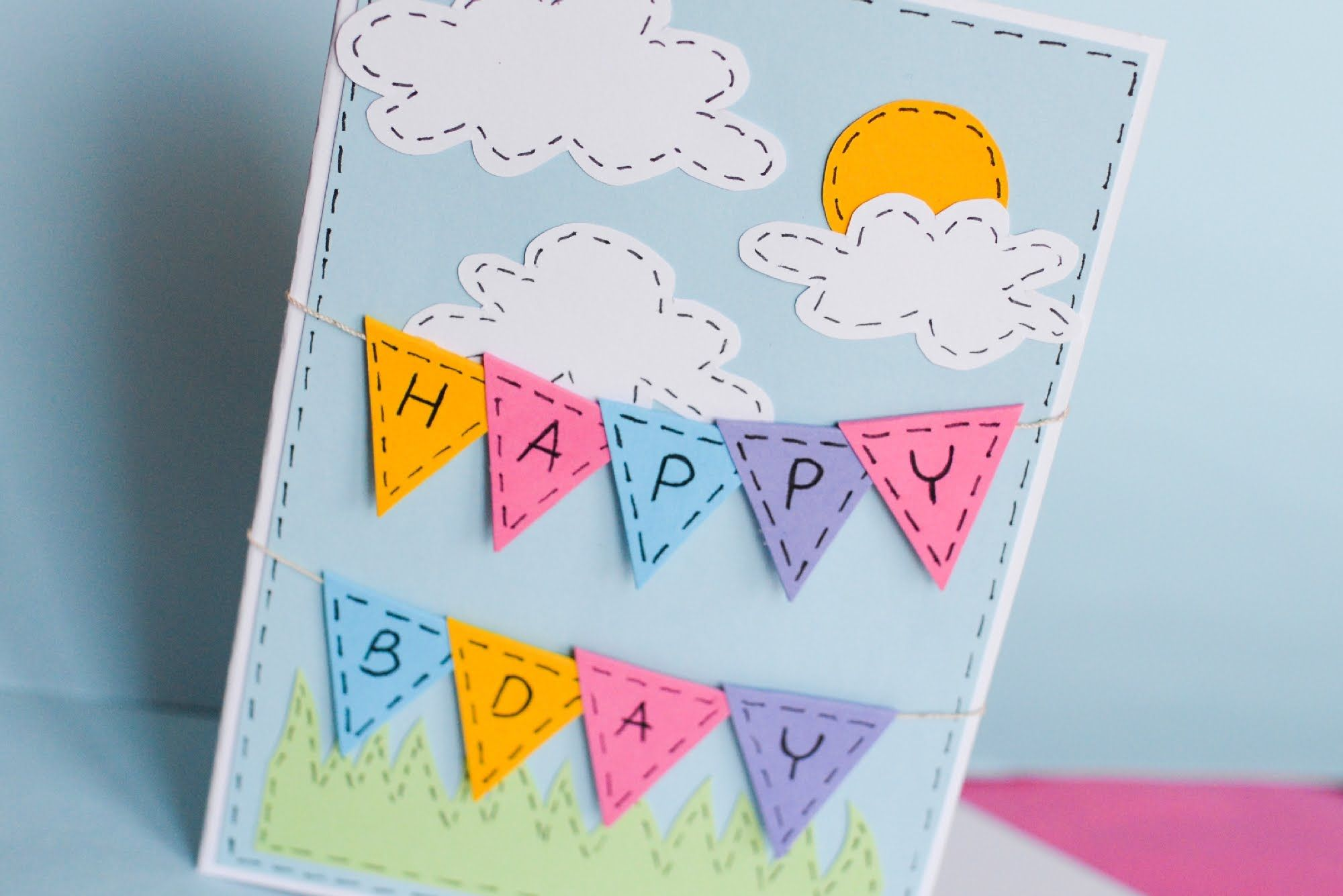 How to make greeting birthday card step by step kartka na how to make greeting birthday card step by step kartka na urodziny kristyandbryce Images