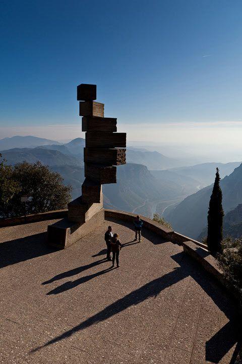 Monserrat monastery catalonia spain by juan madrigal lugares hermosos monasterio de - Tiempo olesa de montserrat ...