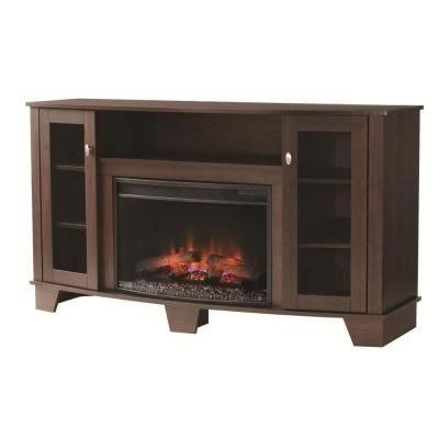 Home Decorators Collection Grand Haven 59 In Media Console Electric Fireplace In Dark Cherry 25mm4495 Pc72 The Home Depot Electric Fireplace Home Decorators Collection Fireplace