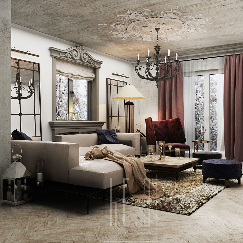 Beau #livingroom #french #classic #interior #design By He.D Creative Group