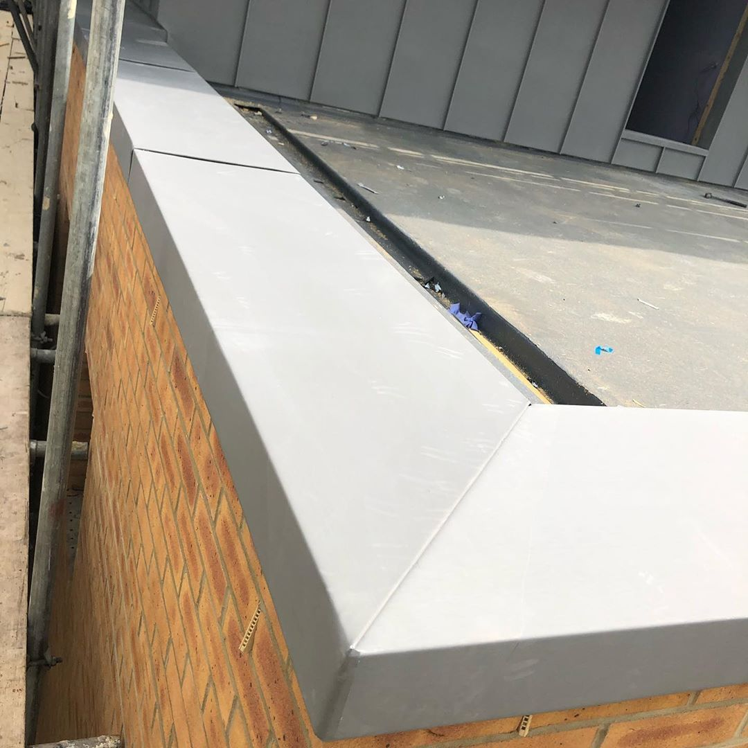 Zinc Traditional Metal Roofing On Instagram Zinc Parapet Wall Capping In 2020 Metal Roof Parapet Roofing