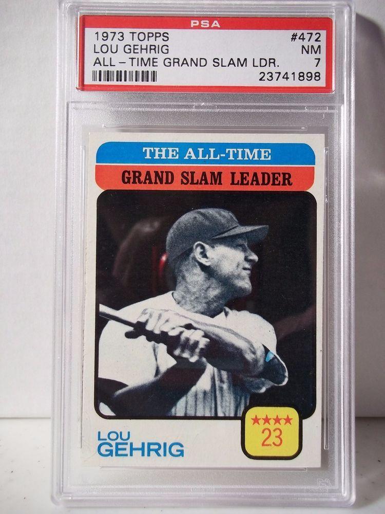 1973 topps lou gehrig psa graded nm 7 baseball card 472
