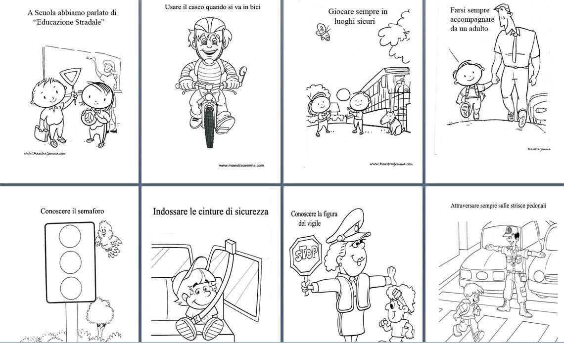 Schede didattiche educazione stradale | scuola | Pinterest ...