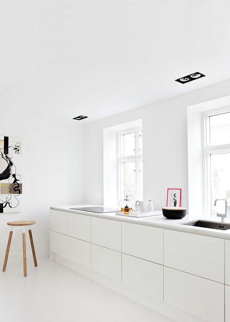 Cucine bianche e minimali [top 10] | KITCHEN : total white ...