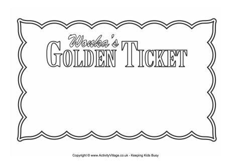 Golden Ticket blank World Book