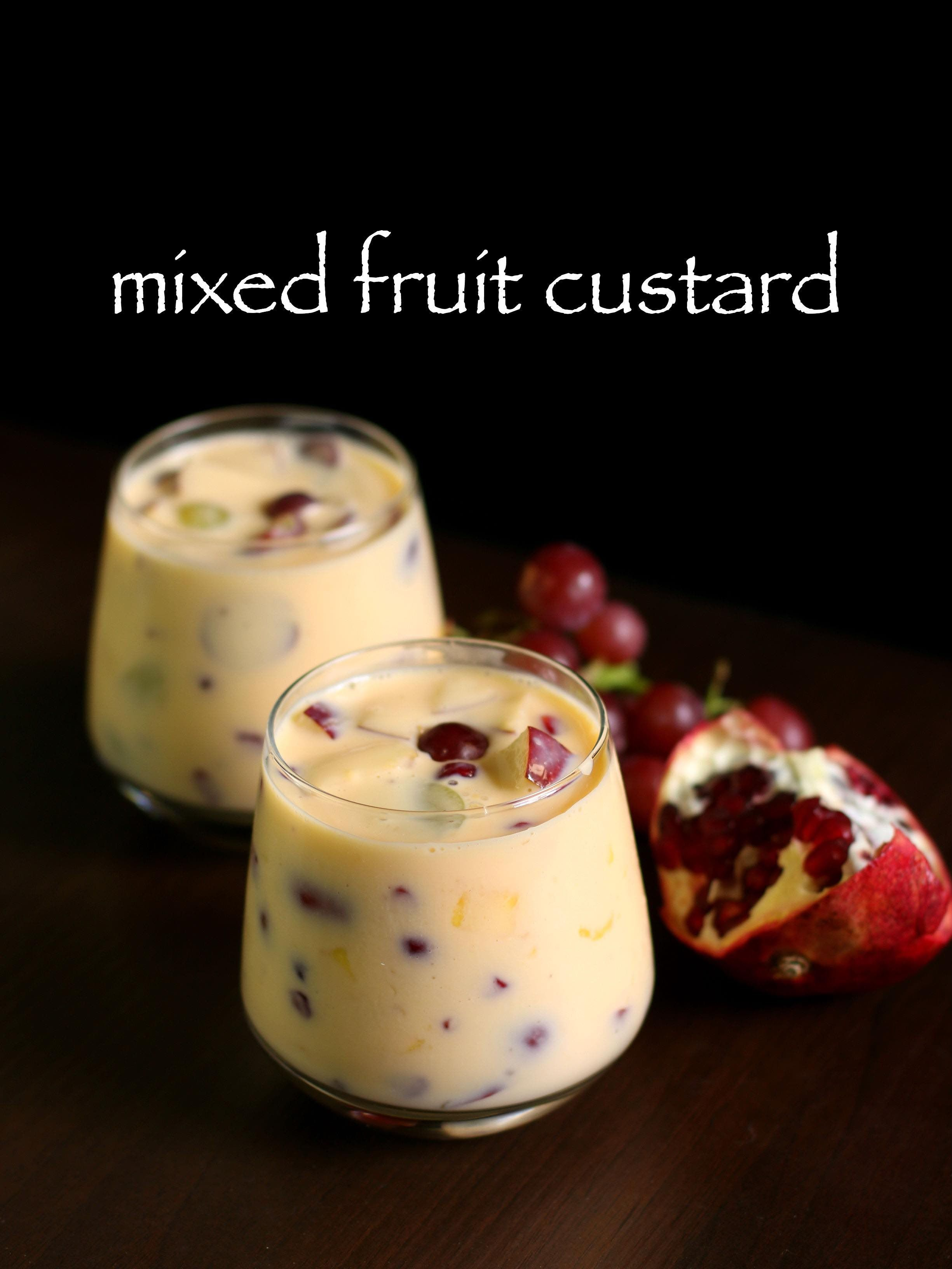 Custard Recipe Fruit Custard Recipe Fruit Salad With Custard Recipe Recipe Custard Recipes Fruit Custard Indian Custard Recipe