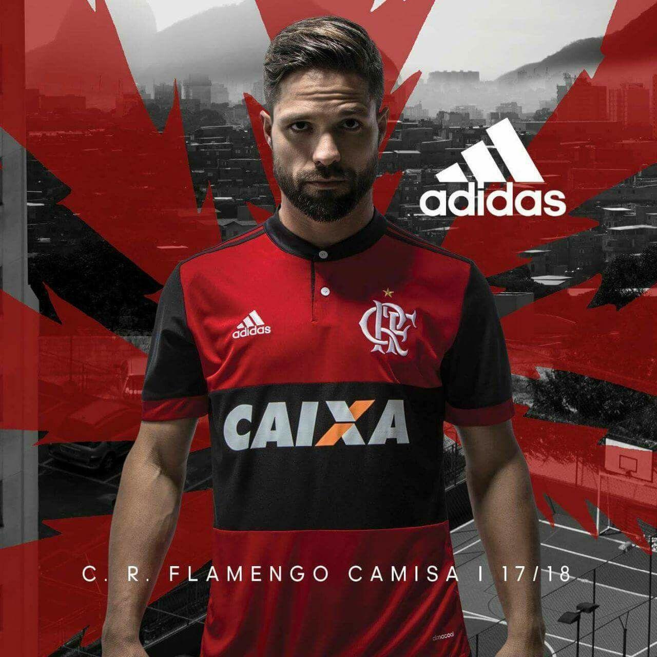 Diego Ribas - Camisa Flamengo 2017 2018  c5d8e5b151430