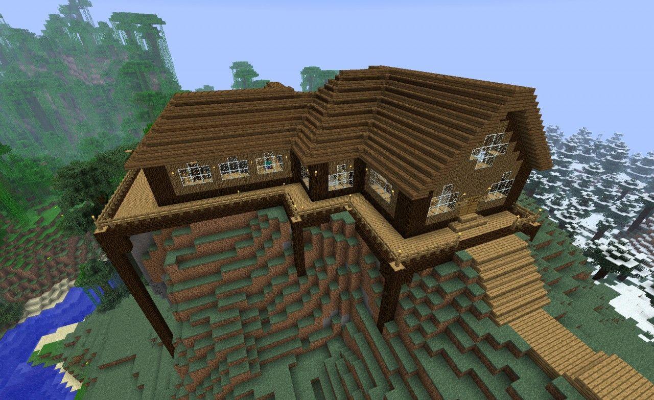 Wooden Home Minecraft Project Minecraft Pinterest