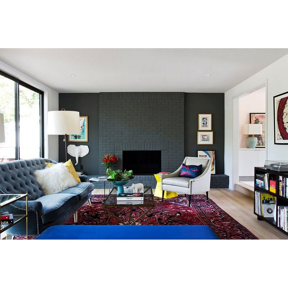 Painted Brick Wall In Gray For Contemporary Living Room Yay Or Nay Rumahkulivingroom
