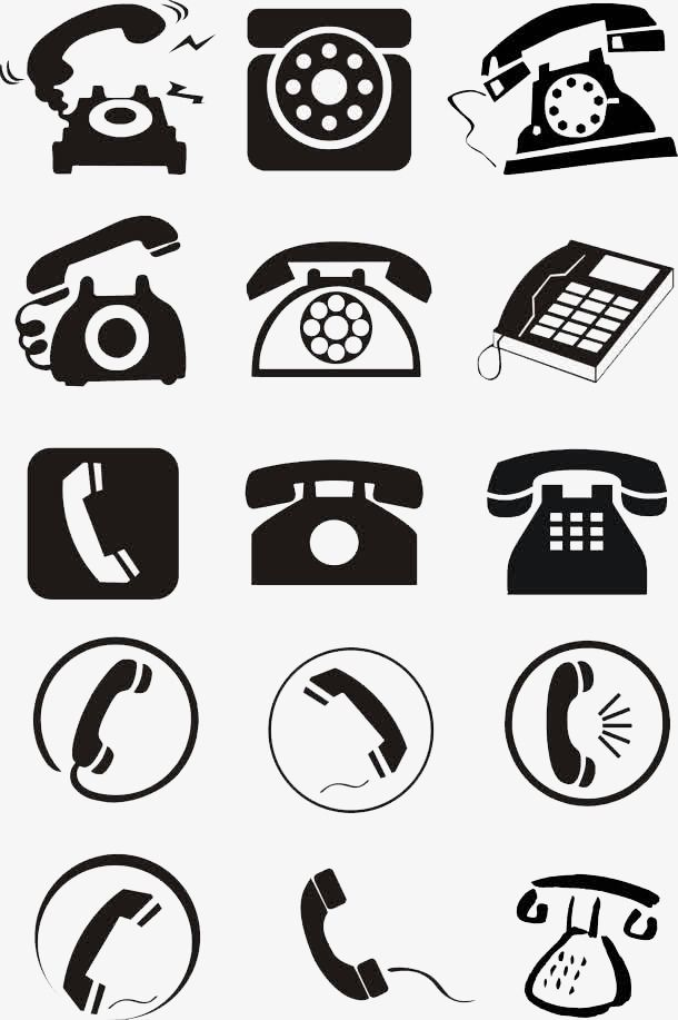 Telephone Icon Png : telephone, Phone, Icon,, Clipart,, Small, Icons, Transparent, Clipart, Image, Download