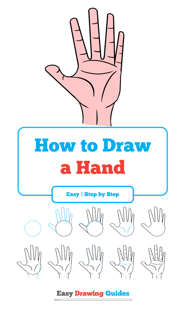 Learn how to draw hand easy step by step drawing tutorial for kids and beginners hand drawingtutorial easydrawing see the full tutorial at
