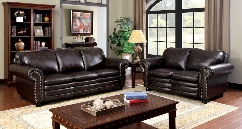 Peachy 2 Pc Benedict Brown Sofa Loveseat Set For The New Home Caraccident5 Cool Chair Designs And Ideas Caraccident5Info